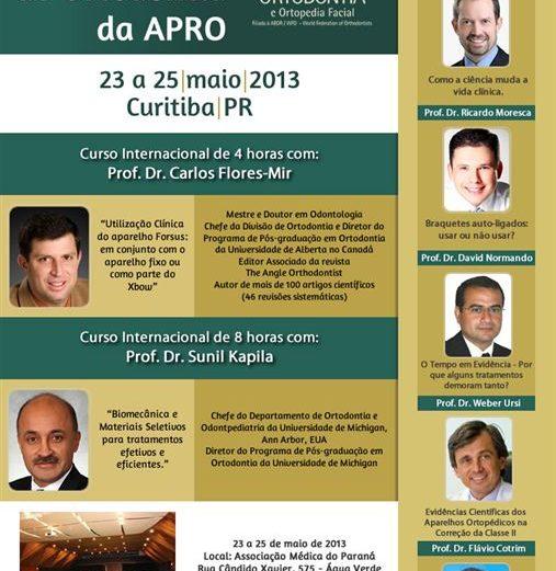 XIII Encontro Internacional de Ortodontia da APRO