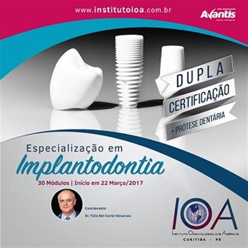 Especialização em Implantodontia com dupla Especialização