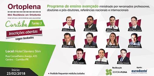 3ª Turma do Curso Mini Residência em Ortodontia – Curitiba/PR