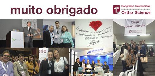 Agradecimento – 1º Congresso Internacional Ortho Science