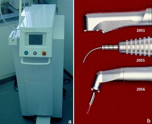 Análise microscópica de incisões realizadas com três diferentes pontas do laser Erbio YAG